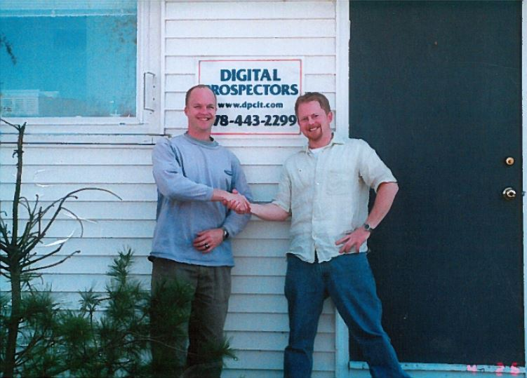 Don and Chris at the first Digital Prospectors office